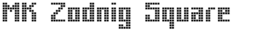 MK Zodnig Square font