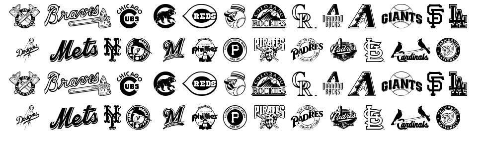 MLB NL font