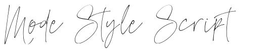 Mode Style Script