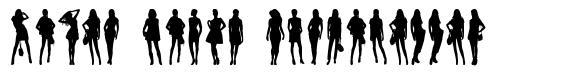 Model Woman Silhouettes font