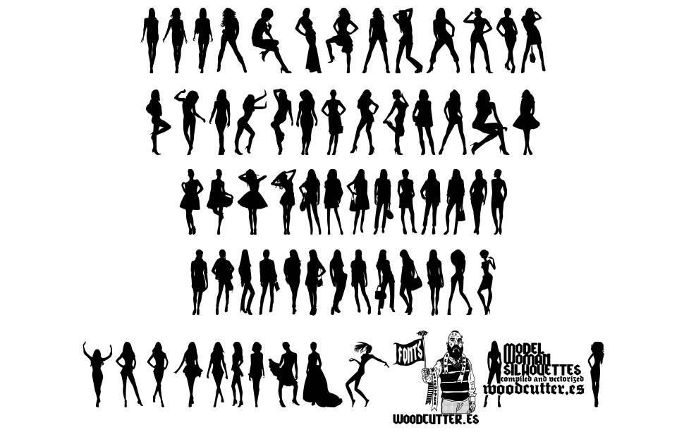 Model Woman Silhouettes font