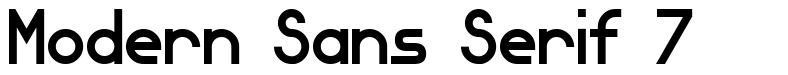 Modern Sans Serif 7 font