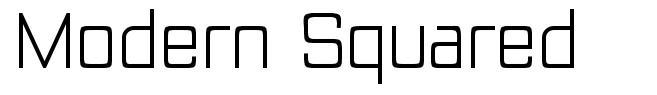 Modern Squared font