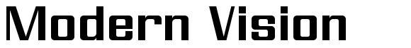Modern Vision font