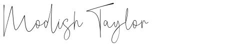 Modish Taylor