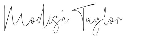 Modish Taylor fonte