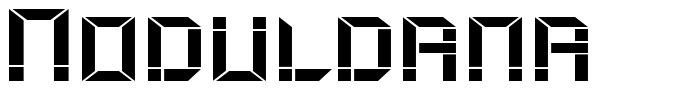 Moduldama font