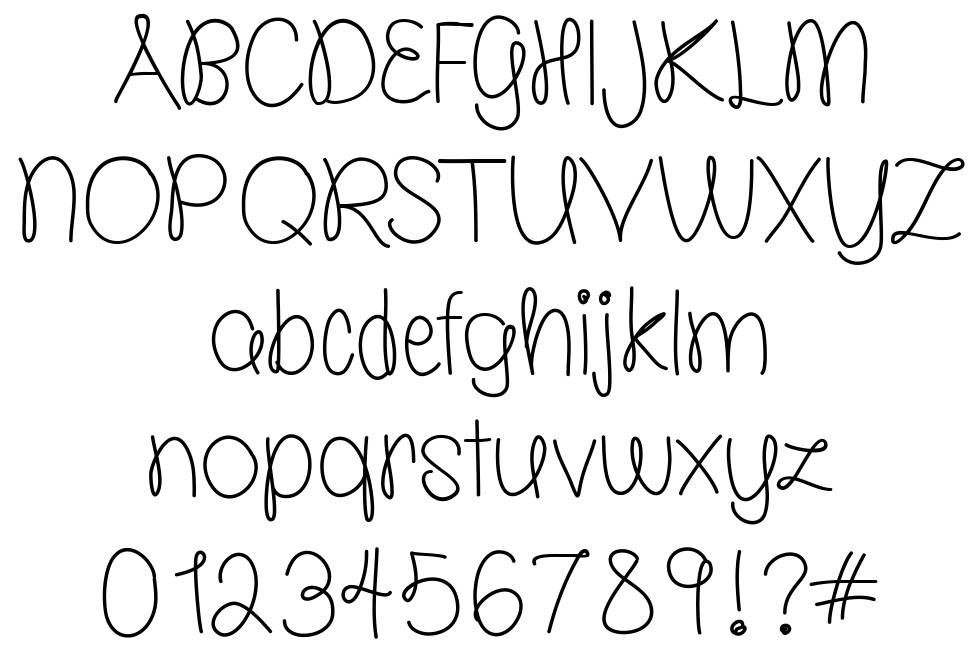 Molly is the Best font