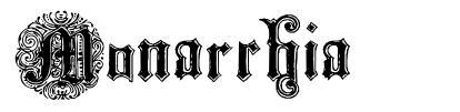 Monarchia 字形