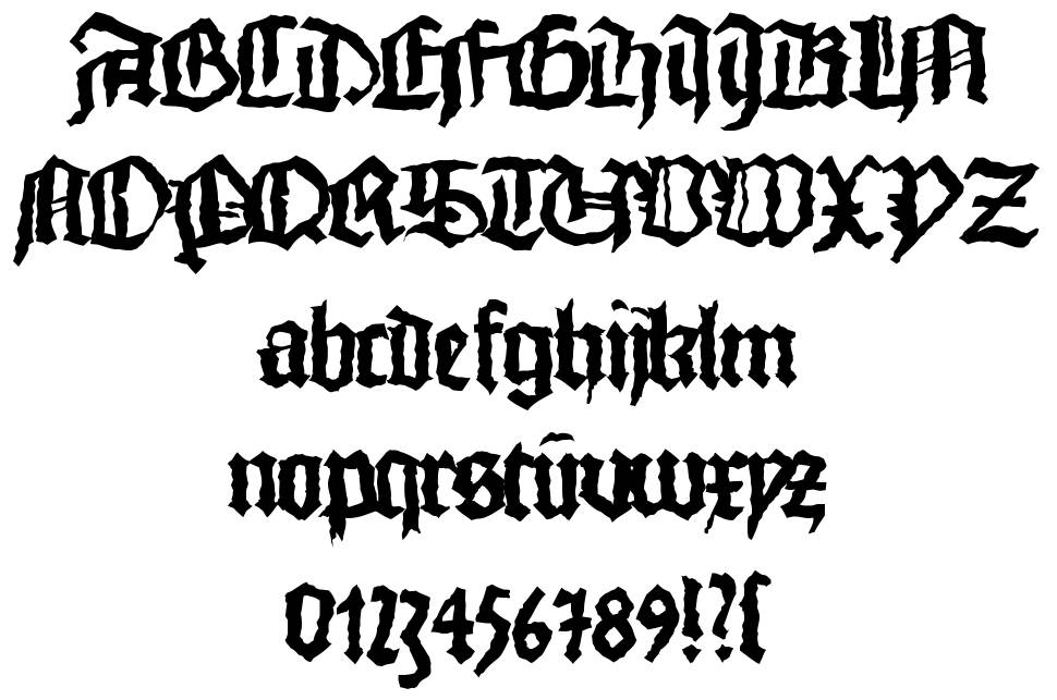 Monks Writing font