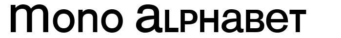 Mono Alphabet