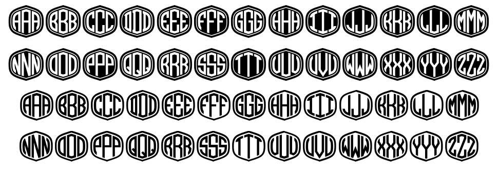 Monograma шрифт
