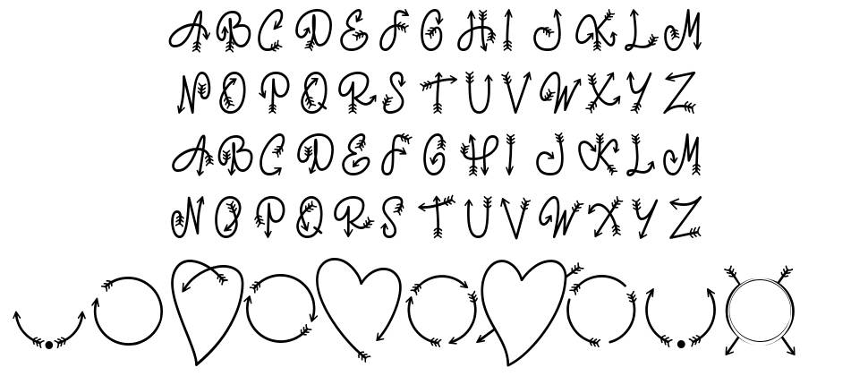 Monorow One font
