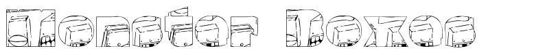 Monster Boxes font