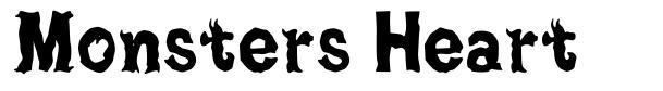 Monsters Heart font