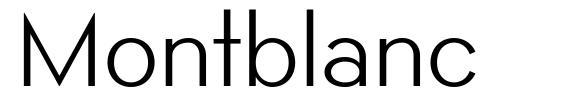 Montblanc шрифт