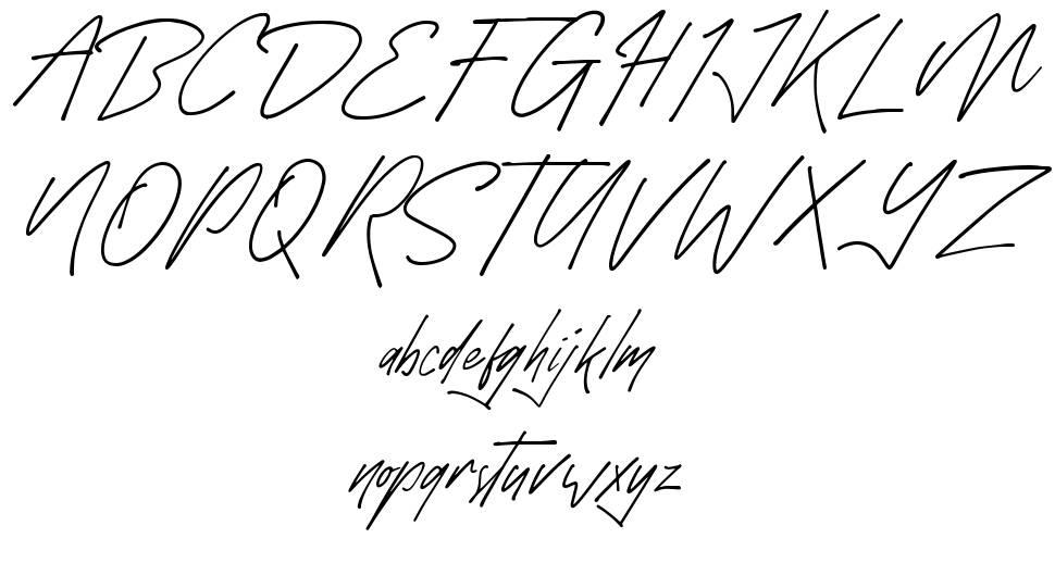 Monthazar font