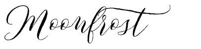 Moonfrost font
