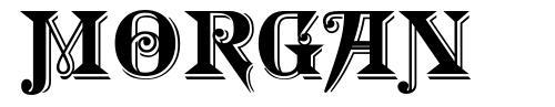 Morgan font