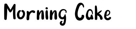 Morning Cake font