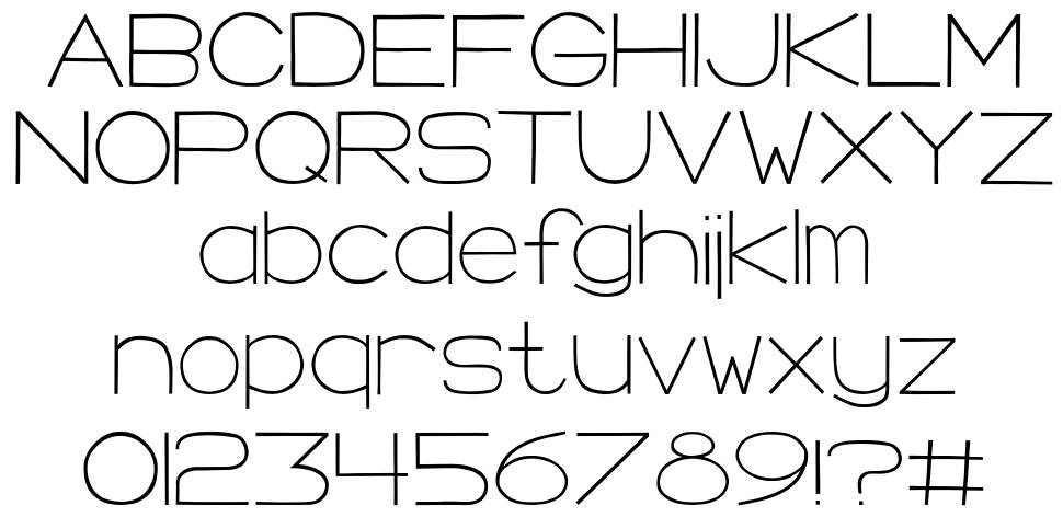 Morning Crescent font
