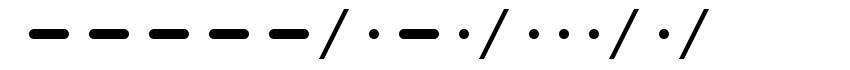 Morse font