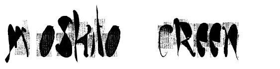 Moskito Screen 字形