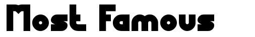 Most Famous