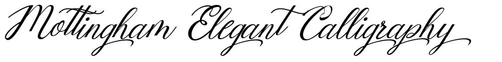 Mottingham Elegant Calligraphy