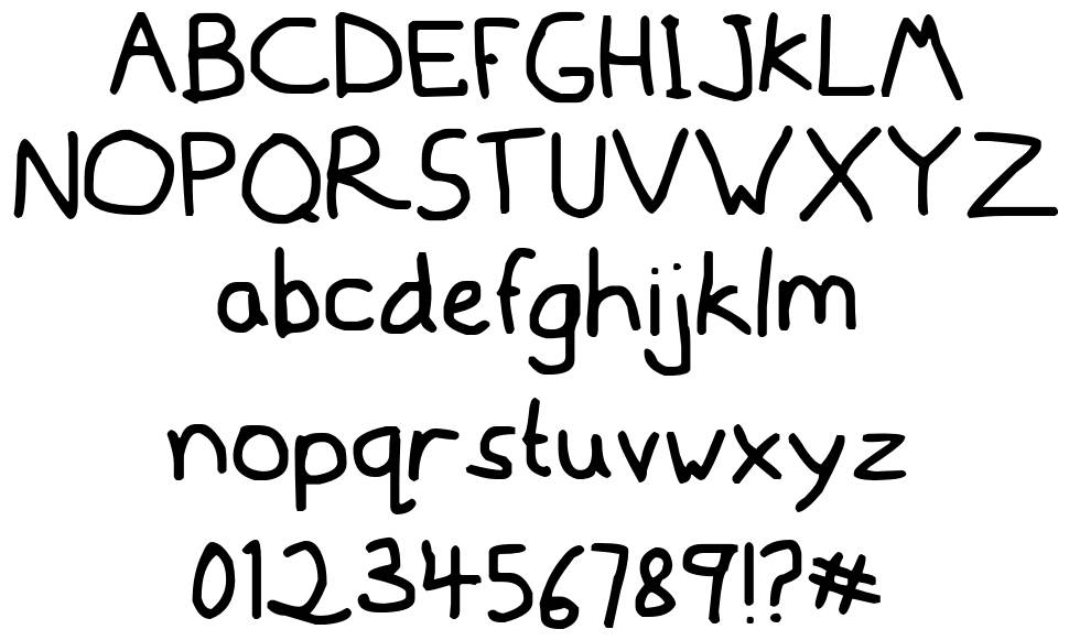 Mousedrawn font