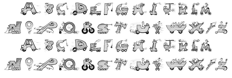 Moving Letters font