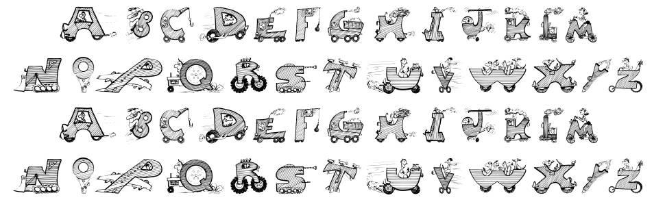 Moving Letters czcionkę