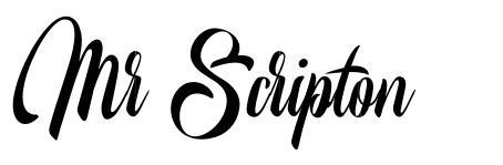 Mr Scripton font