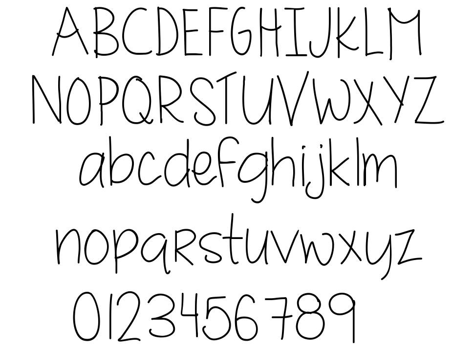 MRF Quirky and authentic hand font font