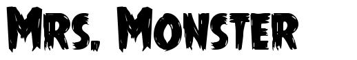 Mrs. Monster font