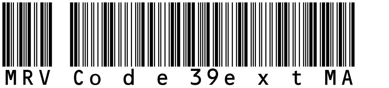 MRV Code39extMA 字形