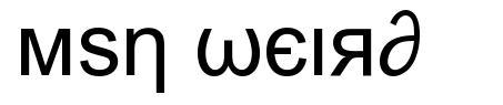 Msn Weird font