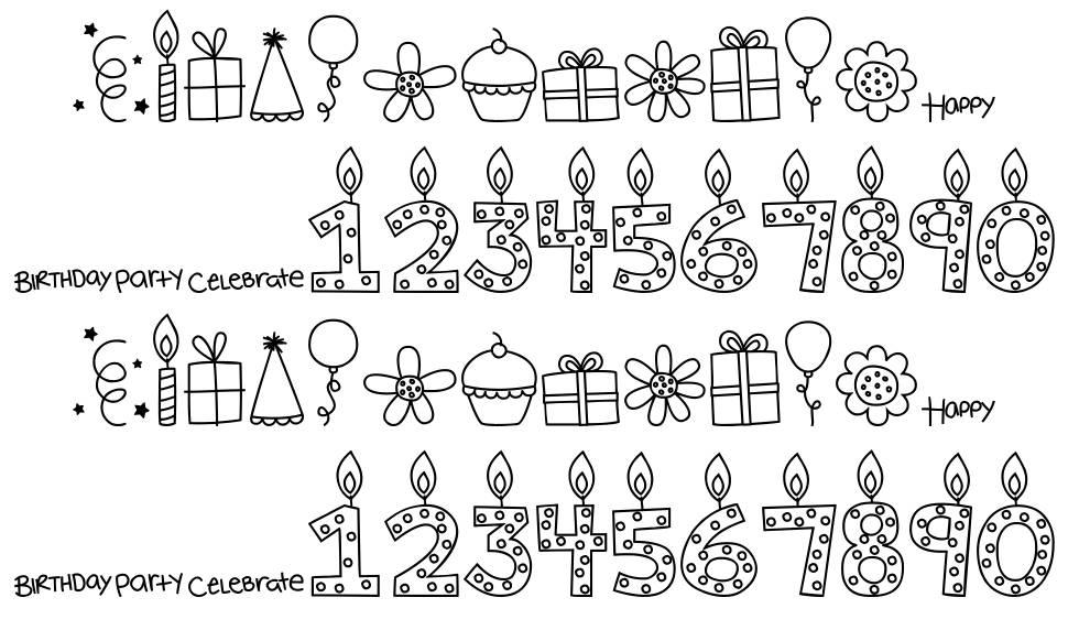 MTF Birthday Bash Doodles fonte