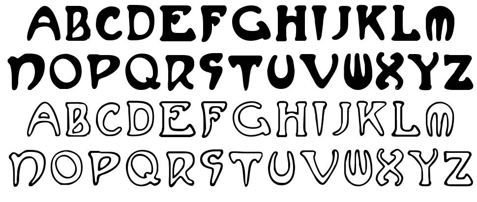 Mucha French Capitals font