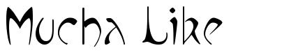 Mucha Like font