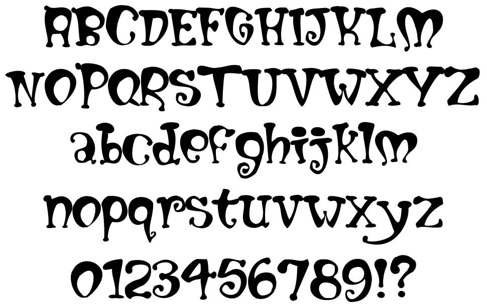 Mumblypegs font