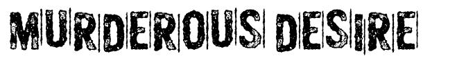 Murderous Desire font