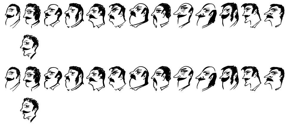 Mustachos font