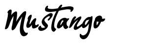 Mustango font