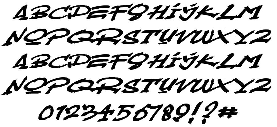 Mustbrow font