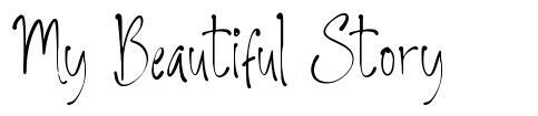 My Beautiful Story font