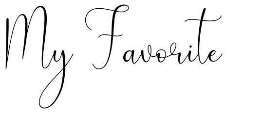 My Favorite font