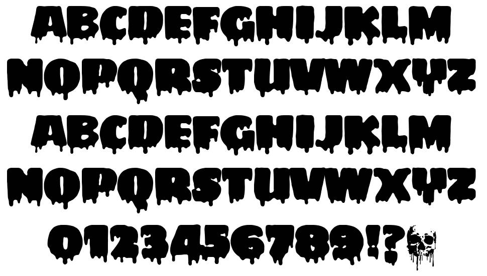 My Favourite Horror font