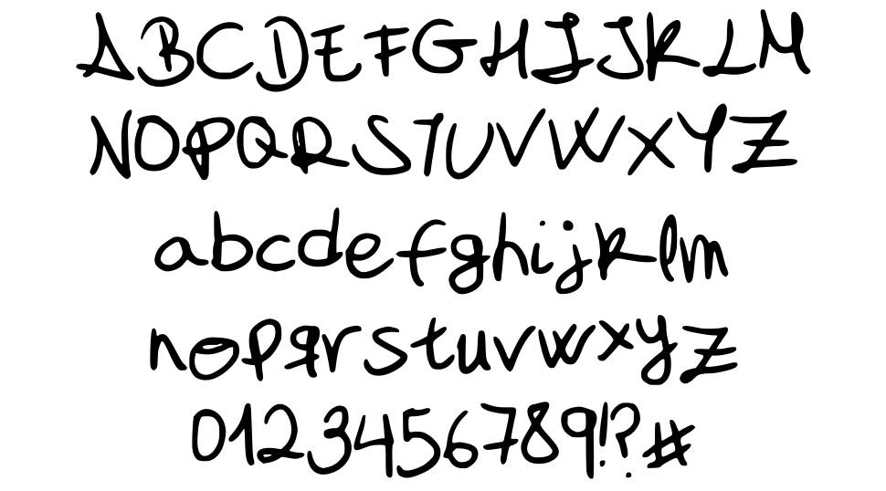 My font is a handwriting font