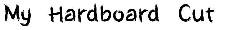 My Hardboard Cut font